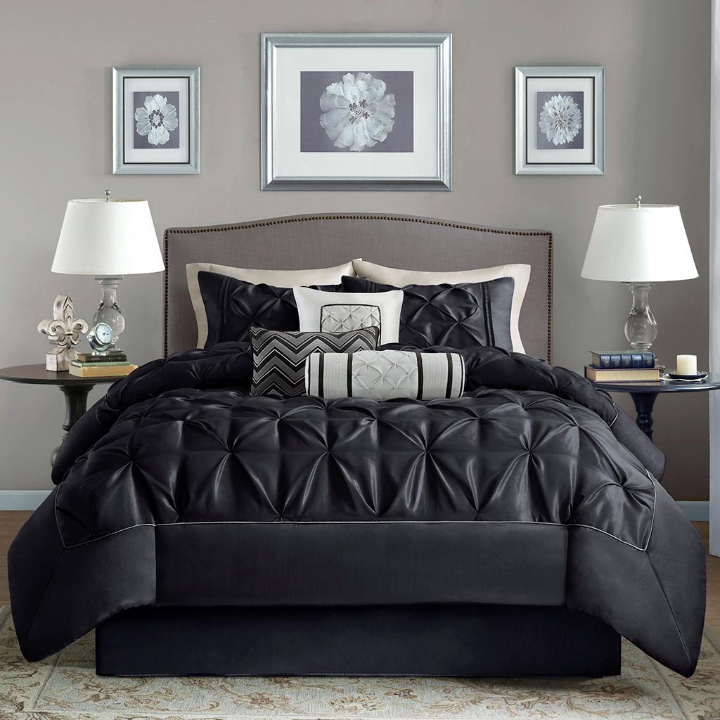 Ágytakaró garnitúra  LARISSA 7 darabos ágytakaró garnitúra - fekete ... 5845c5dead