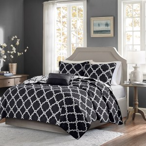ULTIMA 4 darabos ágytakaró garnitúra - fekete - king 63d0ae8499